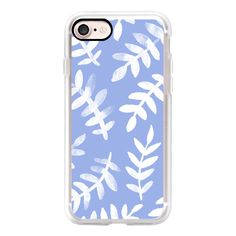 Ferns - Cornflower Blue - iPhone 7 Case, iPhone 7 Plus Case, iPhone 7... (€36) ❤ liked on Polyvore featuring accessories, tech accessories, iphone case, slim iphone case, iphone cover case, iphone cases and apple iphone cases