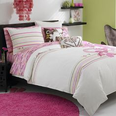Shop for Roxy Kylie Full/Queen-size Duvet Cover Set. Get free delivery On EVERYTHING* Overstock - Your Online Fashion Bedding Store! Surf Bedroom, Dream Bedroom, Bedroom Bed, Teenage Girl Bedrooms, Girls Bedroom, Bedroom Themes, Bedroom Decor, Bedroom Ideas, Cool Beds For Teens