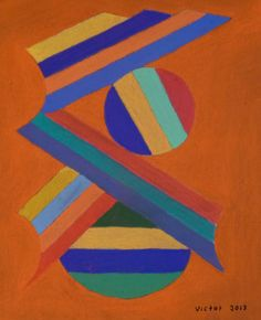 Abstrakt 308, pastell. Abstract 308, pastel.