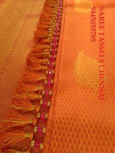 tassels for saree Saree Tassels Designs, Saree Kuchu Designs, Saree Accessories, Saree With Belt, Kutch Work, Simple Blouse Designs, Saree Border, Blouse Patterns, Saree Collection