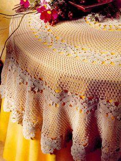 crochet مفارش طاولات كبيره - mumy50 - Picasa Web Albums