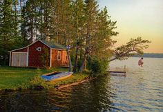 The Ollila sauna in Brimson, Minnesota, is one of many on the shores of a spring-fed lake developed by a group of Finnish American families who built recreational retreats here in the 1930s and 1940s.