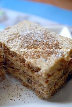 Prajitura fina cu ness, Rețetă Petitchef Pastry Cake, Dessert Bars, Cooking Time, Catering, Bakery, Deserts, Good Food, Food And Drink, Sweets