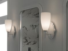 ↦ Bathroom #Lights | Light touches and maximum style in your contemporary #bathroom #bathroomdesign