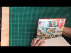 repurposed book journal with long stitch binding