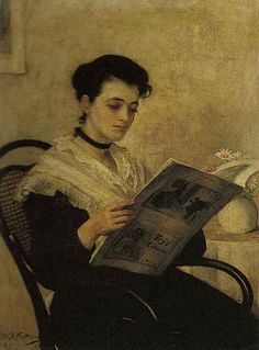 An Interesting Read (1899). William B. Fortescue (British,...