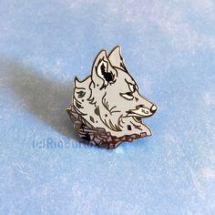 CRYSTAL WOLF HARD ENAMEL PIN