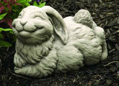 Cotton the Rabbit Rabbit Garden, Outdoor Living Areas, Garden Crafts, Yard Art, Rabbits, Bunnies, Garden Sculpture, Easter, Cottage