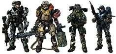 Halo Squad Video Game Characters, Fictional Characters, Master Chief, Robots, Squad, Halo, Armour, Infinity, Battle
