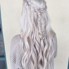 "Courtney Dickerson on Instagram: ""Another braid on my hair done by... via Polyvore featuring accessories and hair accessories"