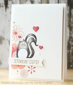 cute little skunk - limedoodledesign.com