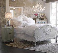Pretty White Bed