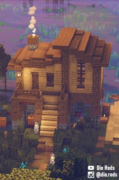 Minecraft Starter House, Minecraft Building Blueprints, Minecraft Cottage, Easy Minecraft Houses, Minecraft House Tutorials, Minecraft Plans, Minecraft House Designs, Minecraft Survival, Amazing Minecraft