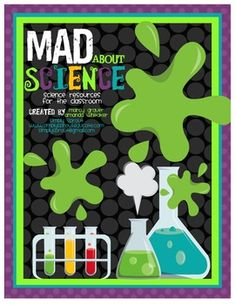 This colorful Kit is the perfect way to introduce general science skills to your students. It contains 4 fun Halloween themed science labs that will be sure to bring out the Mad scientist in your students. The kit also includes writing reflections and activity extenders as well as resources for your bulletin boards and a colorful science word wall.To View this kit please go to: http://www.simplysprouteducate.com/2012/10/mad-about-science.htmlThis kit contains:2 science journal…