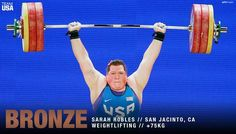 2016-08-14 USA's Sarah Robles wins Bronze in the over 75kg Weightlifting