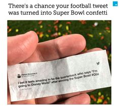 If you weren't able to attend last night's Super Bowl, your tweet might have. Twitter and the NFL teamed up to make it rain sports tweets after the Kansas City Chief's win and if you used the hashtag #NFLTwitter, your tweet could have been a part of it. Make It Rain, Kansas City Chiefs, Public Relations, Super Bowl, Confetti, Nfl, Tech, Social Media, Football