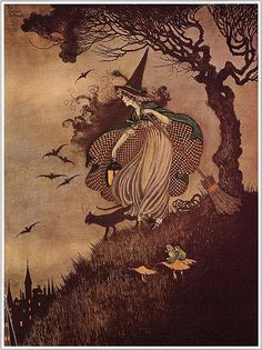 orchideyes: - The Little Witch, Ida Rentoul Outhwaite.
