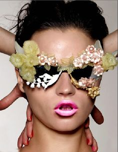 Missy Rayder Wears Mercura NYC original Bluebell, Lalique Lily and Wild Rose Sunnies photo by Donna Trope for Tush Magazine