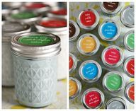 Mason Jar Paint storage
