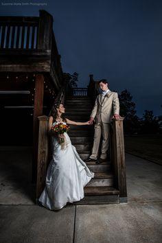 Night Wedding Portrait - Suzanne Marie Smith Photography