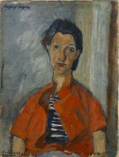 Jacques Chapiro – PORTRAIT DE MAYKAM, FEMME DE L'ARTISTE [Buste de femme], 1936, Huile sur toile, 61x46 cm