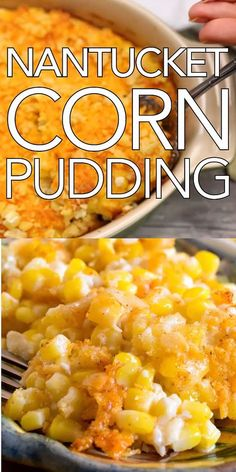 Nantucket Corn Pudding & Creamy, cheesy and delicious! Make this for Nantucket Corn Pudding & Creamy, cheesy and delicious! Make this for The post Nantucket Corn Pudding & Creamy, cheesy and delicious! Side Dish Recipes, Veggie Recipes, Vegetarian Recipes, Cooking Recipes, Fresh Corn Recipes, Easter Recipes, Recipes Dinner, Potato Recipes, Recipes With Potatoes