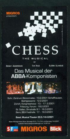 CHESS - MUSICAL DER ABBA KOMPONISTEN - 2001 ORIG. SCHWEIZER FLYER