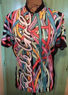 """Terry Women's Jersey Shirt Bike Cycling """"Ride Girl"""" Multi Colors Zip Front XXL    eBay"""