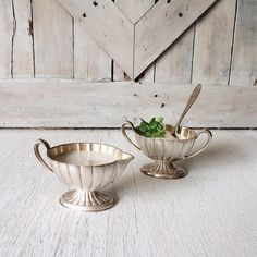 Vintage Cream and Sugar Set-International Silver-Coffee Set, Tea Set French Country Shabby Chic Farmhouse