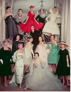 J'adore Dior...some classy ladies modelling the 1958 Spring/Summer collection, from Luxury Fashion by Caroline Cox.