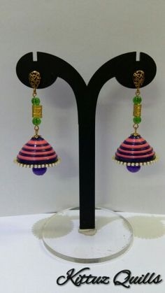 Quilled long jhumkas