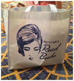 Pretty Girls Read Books tote bag.