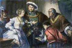 Henry VIII and Anne Boleyn.