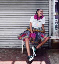 My favorite picture from the Nike campaign! Cava the shoe and of course cava the xibelani ✨✨✨ Nike Campaign, African Diaspora, African Fashion, African Outfits, Black Queen, Real Women, Traditional Outfits, Lifestyle Blog, Plus Size