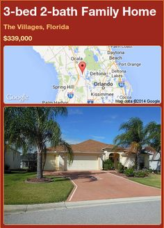 3-bed 2-bath Family Home in The Villages, Florida ►$339,000 #PropertyForSale #RealEstate #Florida http://florida-magic.com/properties/72578-family-home-for-sale-in-the-villages-florida-with-3-bedroom-2-bathroom