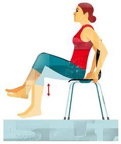 Ejercicios en casa: Mantente en forma haciendo ejercicio con una silla - Foto 1