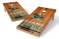 Miami Hurricanes Single Cornhole Board - Vintage