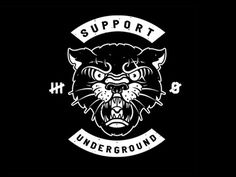 Support Underground by Ostem Tattoo Posters, Polo Design, Old School Tattoo Designs, Tatuagem Old School, Tattoo Graphic, Dark Art Drawings, Bad Cats, Game Concept Art, Japanese Graphic Design
