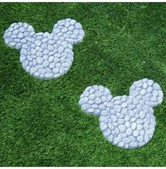 """10"""" Wide Disney's Mickey Mouse Stepping Stones at Garden and Pond Depot. Already in my garden!"""