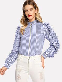 Beige Silver Mathilde Blouse Button Back 3//4 Sleeves Scoop Neck Cotton Top Women