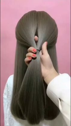 Hairdo For Long Hair, Easy Hairstyles For Long Hair, Cute Hairstyles, Wedding Hairstyles, Hairdos, Braided Hairstyles, Hair Up Styles, Medium Hair Styles, Hair Videos