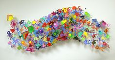 David Kracov - Go With The Flow - Metal Wall Sculpture Metal Wall Sculpture, Sculpture Art, Art Activities For Kids, Art For Kids, Contemporary Sculpture, Contemporary Art, Modern Art, Pop Art, David