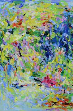 Abstract Painting Giclee Garden Print