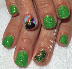 St. Patty's Nails by Jamie Duffield Eugene, Oregon To book an appointment call (541) 556-8337 or go to www.styleseat.com/jamieduffield