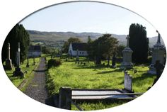 A scenic view of a village in county donegal