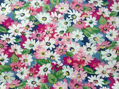 4019  Cath Kidston Painted Daisy Dark Blue Oilcloth by boqinana
