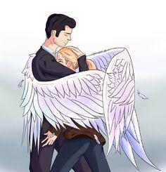 """Lucifer Morningstar 😈 on Instagram: """"Our angel 💓 #luciferfoxcanal #luciferonfox #lucifer #morningstar #lucifermorningstar #deckestar #chloedecker #detective #angel #devil #love…"""""""