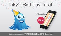 Because Inky's getting bigger, so are the discounts from Inky Deals! Now it's the perfect time to get your favorite deals at 50% off by using coupon code THREEYEARS at checkout, until 31st October.