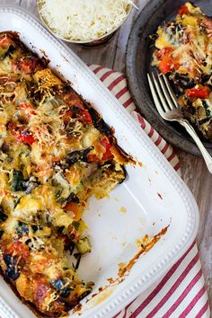 Rosemary Roasted Vegetable Savory Bread Pudding
