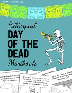 As an alternative or an addition to Halloween activities, teachers can celebrate Day of the Dead with their students. This holiday also occurs at the end of October/beginning of November. Through this bilingual (English/Spanish) minibook, students can learn about a holiday celebrated by millions of people in Mexico, in other countries of Latin America. This Día de los Muertos minibook is bilingual and packed with how and why it is celebrated.